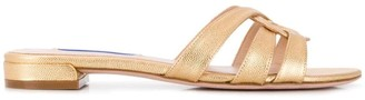 Stuart Weitzman Cami round toe slides