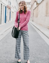 Boden British Tweed Wide Leg Pants