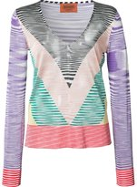 Missoni sheer zig-zag print top