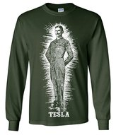 Dolphin Shirt Co Nikola Tesla Large Portrait Long Sleeve Shirt