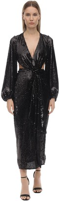 Alice McCall Sequined Midi Dress W/ Cut Outs