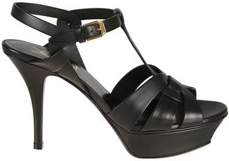 Saint Laurent Side Buckled Wrap Sandals