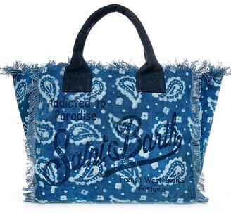 MC2 Saint Barth Indigo Batik H Canvas Bag