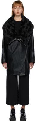 Stella McCartney Black Alter Shearling Biker Coat