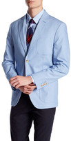 JKT NEW YORK Bond Blue Houndstooth Two Button Notch Lapel Jacket