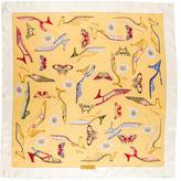 Salvatore Ferragamo Shoe Printed Silk Scarf