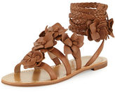 Tory Burch Blossom Leather Gladiator Sandal