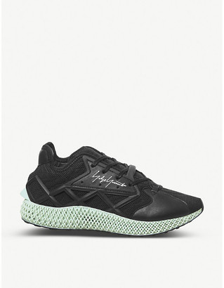 Selfridges Runner 4-D caged mesh and leather low-top trainers