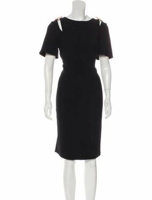 Oscar de la Renta 2018 Virgin Wool Dress Black