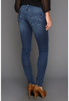 Vigoss Skinny EMB SGL V (Dark Wash) - Apparel