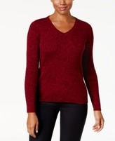 Karen Scott Petite Cotton Marled Sweater, Created for Macy's