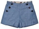 Burberry Blue Chambray Etty Shorts