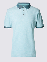 Limited Edition Slim Fit Pure Cotton Textured Polo Shirt