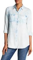 Foxcroft Long Sleeve Acid Wash Shirt