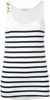 Pierre Balmain striped tank top - women - Cotton - 40
