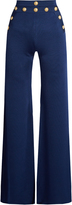 Balmain Wide-leg knitted trousers
