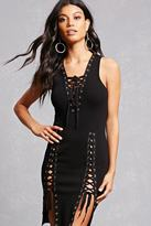 Forever 21 FOREVER 21+ Lace-Up Tank Dress