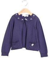 Tartine et Chocolat Girls' Embroidered Long Sleeve Cardigan w/ Tags