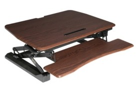 Seville Classics Airlift Pneumatic Laptop Mobile Desk Cart