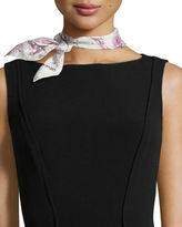 Anna Coroneo Flowers Silk Square Scarf, Rose