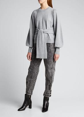 Ulla Johnson Rubi Waist-Tie Sweater
