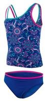 Zoggs Girl's Flower Festival Tankini Two Piece Swimsuit