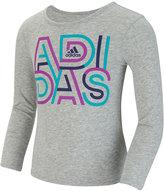 adidas Little Girls' Graphic-Print Long-Sleeve T-Shirt