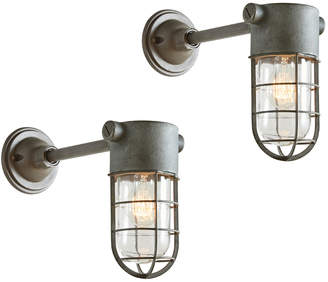 Rejuvenation Pair of Industrial Sconces by Crouse Hinds