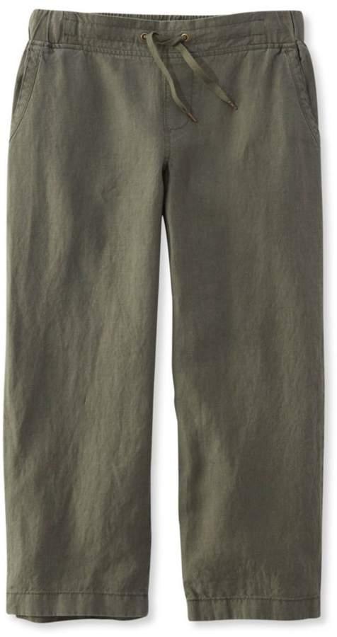 L.L. Bean L.L.Bean Premium Washable Linen Cropped Pants