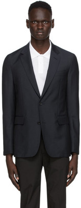 Dunhill Navy Tropical Wool Plain Travel Blazer