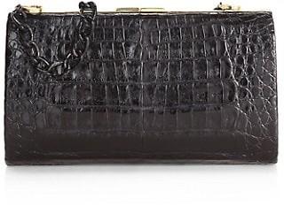 Nancy Gonzalez Colette Metallic Crocodile Frame Clutch
