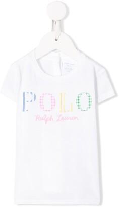 Ralph Lauren Kids patchwork logo T-shirt