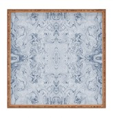 Deny Designs Lisa Argyropoulos Steely Blue Marble Kali Square Bamboo Tray