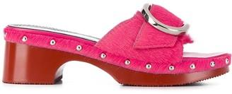 Nicole Saldaña Paula clog sandals