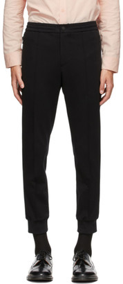 Solid Homme Black Tricot Lounge Pants