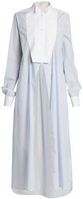 Loewe Split-Front Cotton Shirtdress