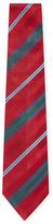 Chanel Vintage Red Striped Silk Tie