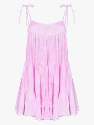HONORINE Pink Peri Tiered Mini Dress