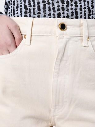 KHAITE Gabbie Cropped Ivory Jean