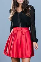 Ark & Co Red Cocktail Skirt