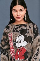 Junk Food Clothing Mickey Mouse Tie-Dye Crew Neck Sweatshirt