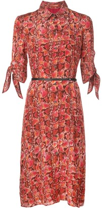 Altuzarra Narcissa snake-effect midi dress
