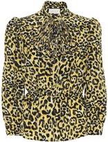 Gucci Leopard-print silk blouse