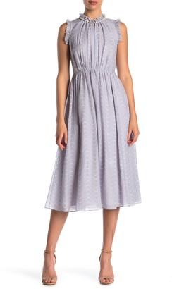 Kate Spade Wavy Dot Print Silk Dress