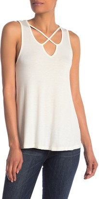 Bobeau Criss Cross Front Tank Top