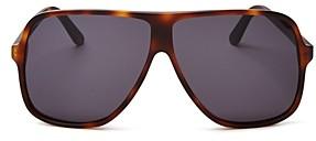 Illesteva Unisex Connecticut Havana Oversized Aviator Sunglasses, 65mm