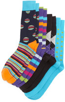 Neiman Marcus Ribbon Four-Pair Wardrobe Sock Set, Assorted