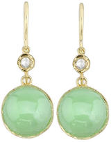 Irene Neuwirth Cabochon Chrysoprase Earrings with Diamonds - Yellow Gold