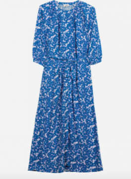 Thumbnail for your product : Margaux Blue Print Midi Dress - 12-14