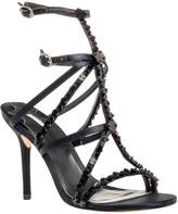 Max Studio Satire – Beaded High Heel Satin Sandals